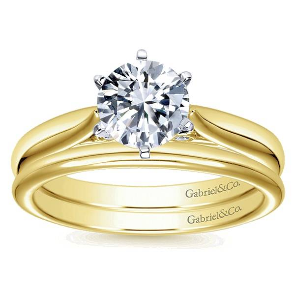 Gabriel & Co ER6668 Yellow Gold Solitaire