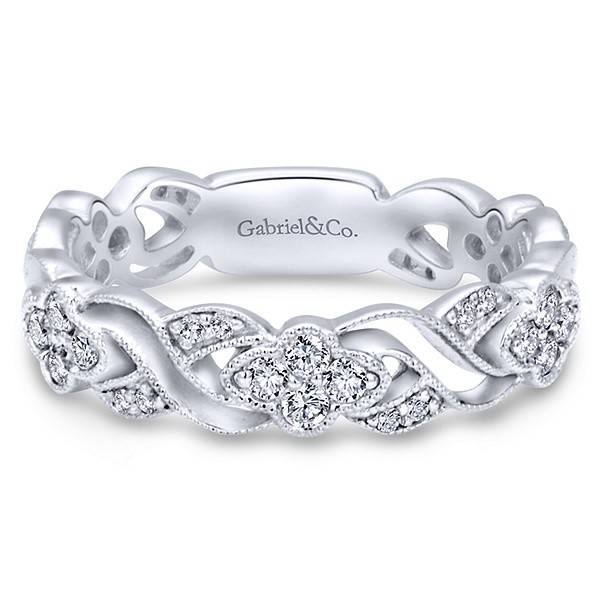 Gabriel & Co LR6320 diamond stackable band