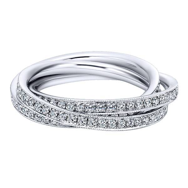 Gabriel & Co AN6039 overlapping loop eternity band