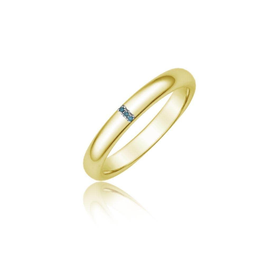 Meira T Blue Diamond Gold Band