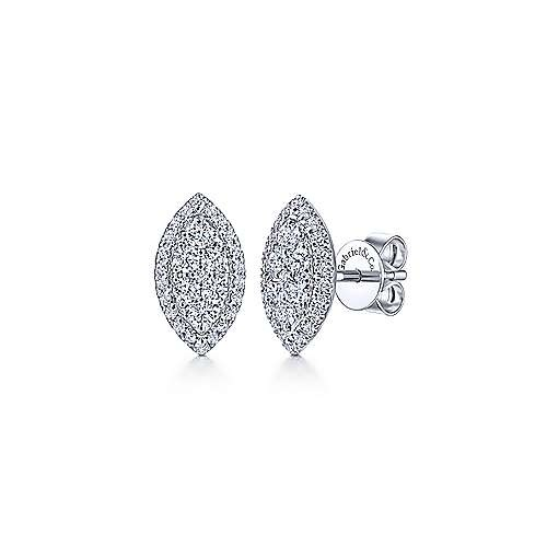 Marquise Cluster Diamond Stud Earrings