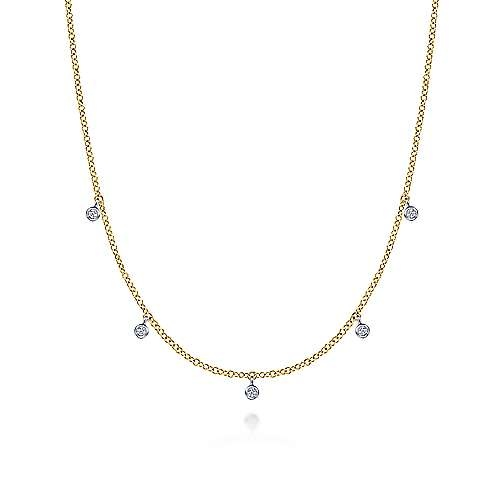 NK6469 Bezel Set Diamond Drop Necklace