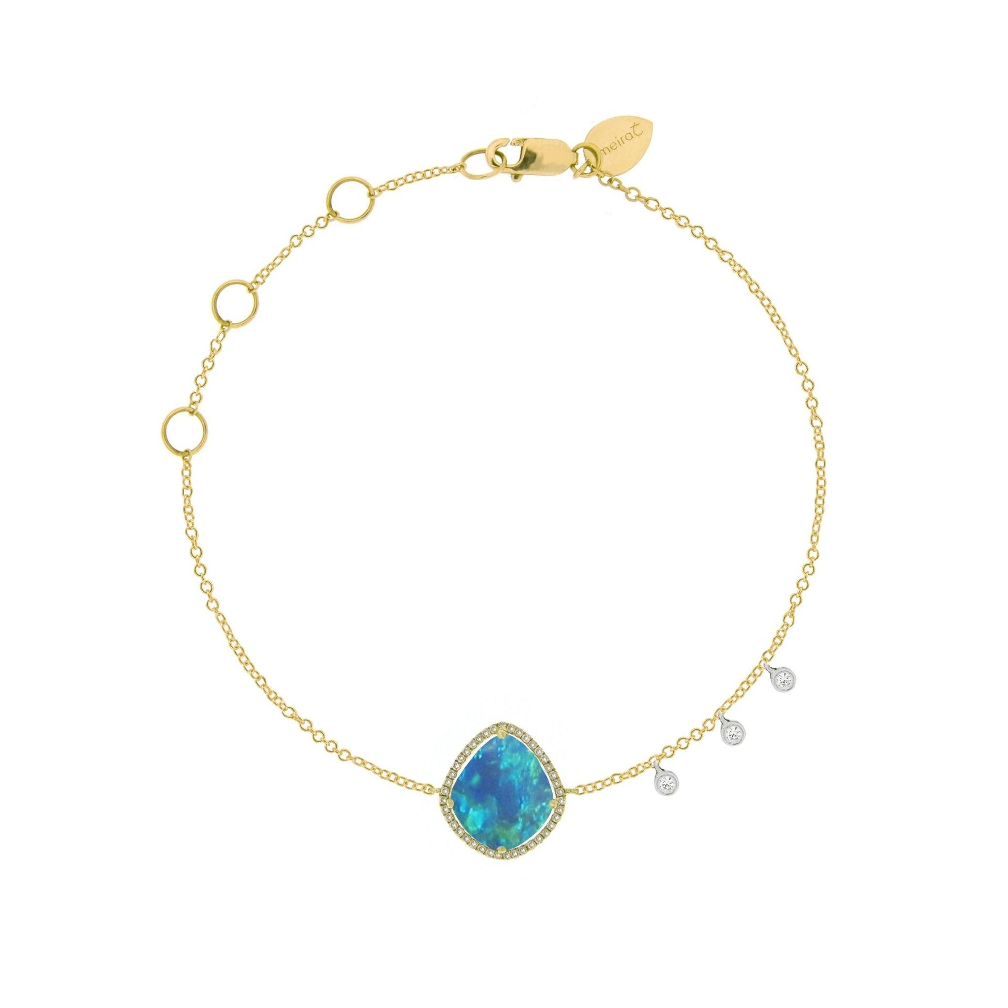 Meira T Opal Yellow Gold Bracelet