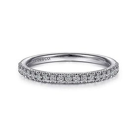 AN7620 french pave thin diamond wedding band