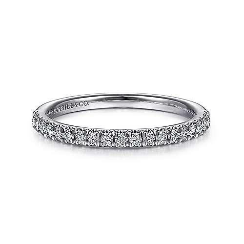 AN7620 french pave thin diamond wedding band