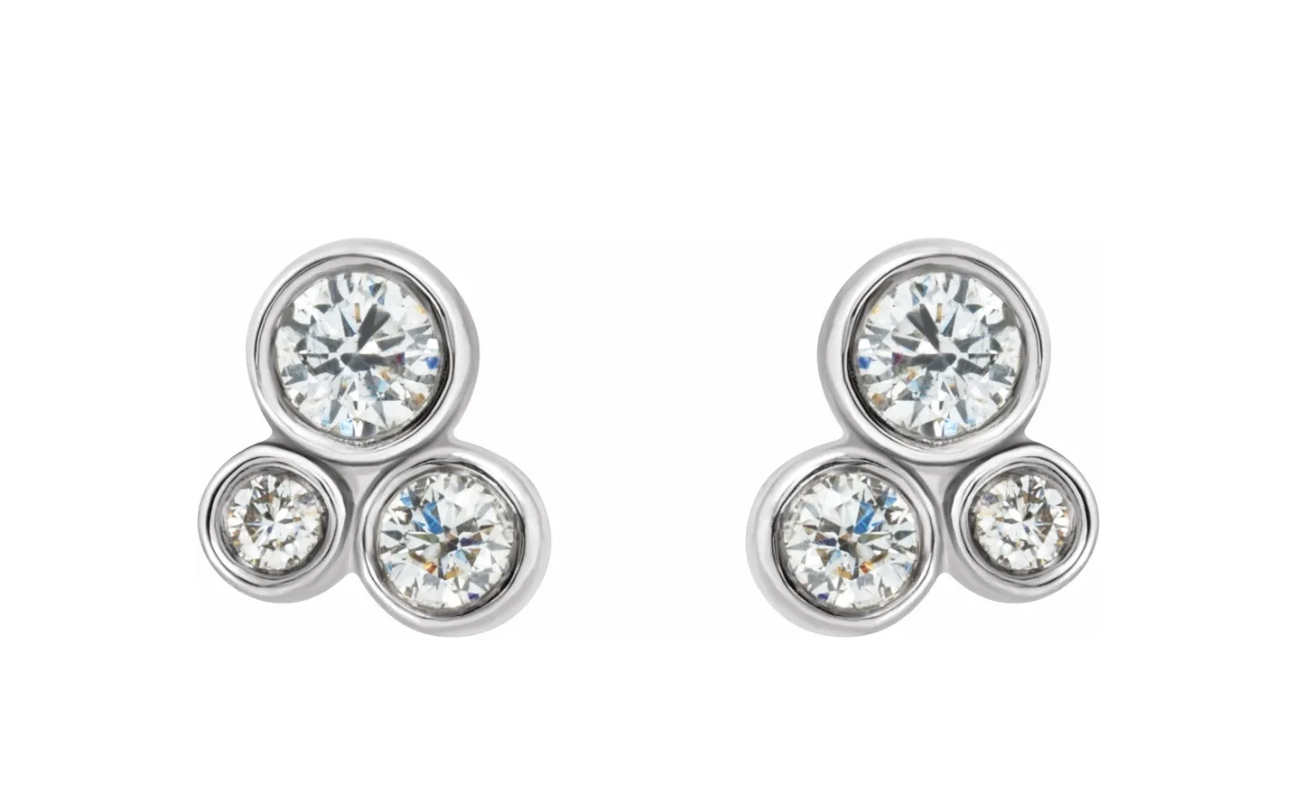 86752 Cluster Diamond Earrings 1/5 carat total