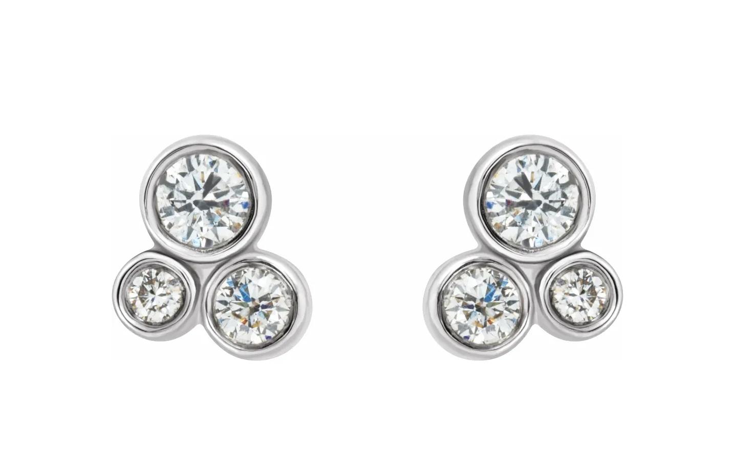 Stuller 86752 Cluster Diamond Earrings 1/5 carat total