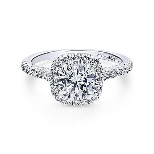 ER12664 Pave Halo Engagement Ring Setting