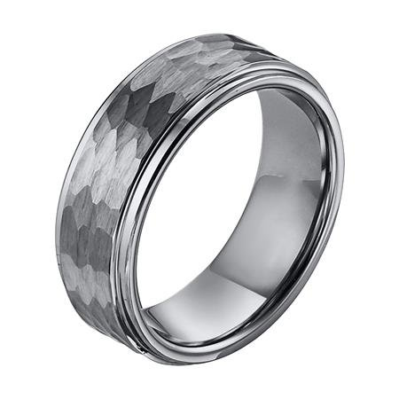 11-3288 Hammered Tungsten Wedding Band