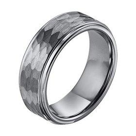 11-3288 Hammered Tungsten Wedding Band