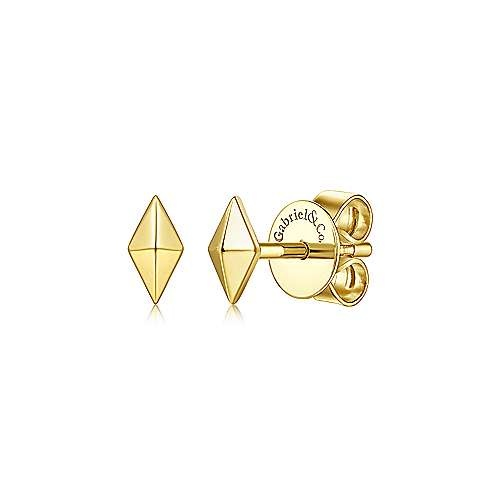 14kt Yellow Gold Kite Shape Stud Earrings