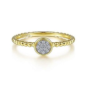 LR51825 14kt Gold Stackable Cluster Ring