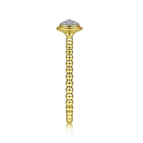 Gabriel & Co LR51825 14kt Gold Stackable Cluster Ring