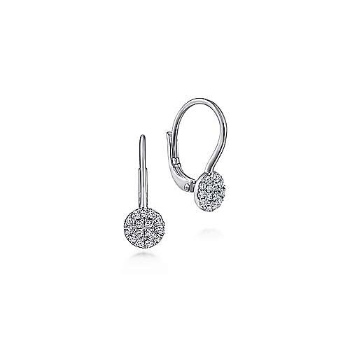 EG13620 Pave Diamond Cluster Earrings