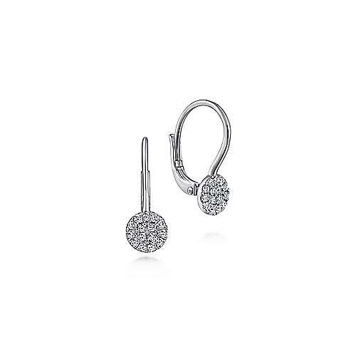 Gabriel & Co EG13620 Pave Diamond Cluster Earrings