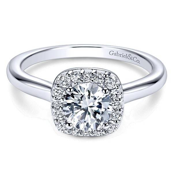 Gabriel & Co Miley Halo Top Solitaire