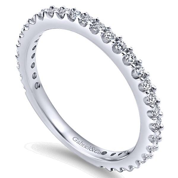 Gabriel & Co WB4124 Shared Prong Diamond Band