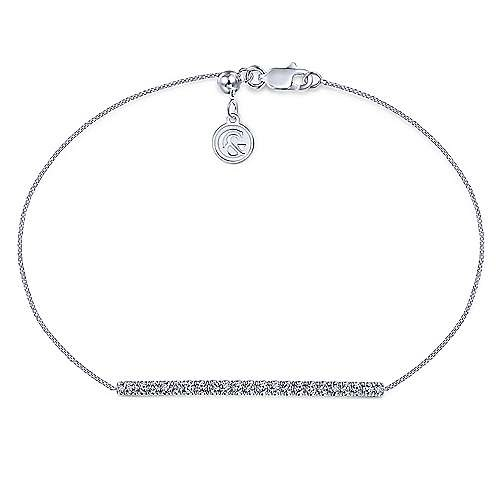 Gabriel & Co TB4216 Diamond Bar Bracelet