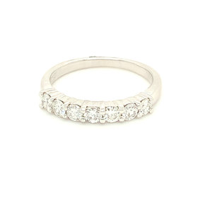 14kt White Gold Shared Prong Diamond Band 0.64 carat total