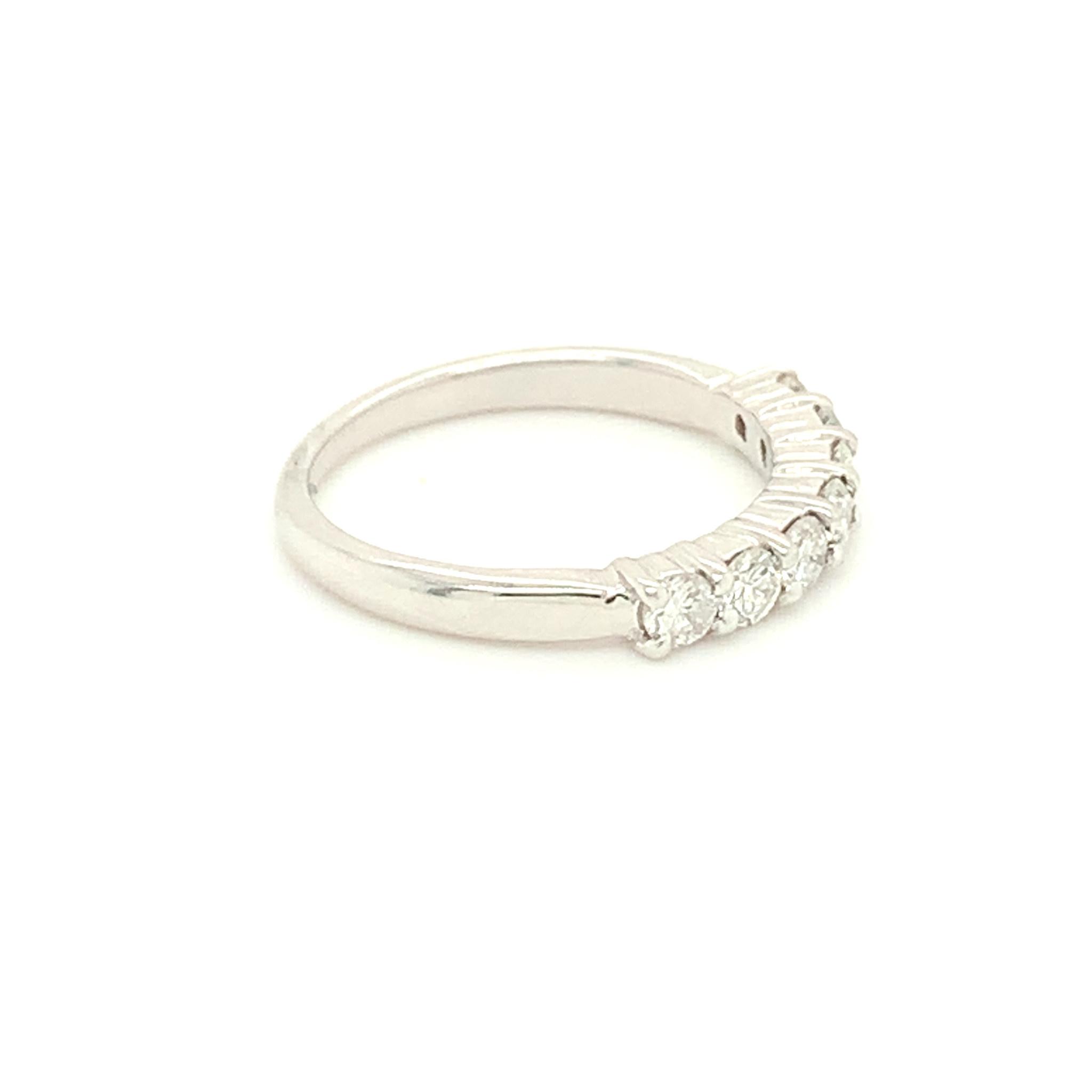 Freedman 14kt White Gold Shared Prong Diamond Band 0.64 carat total