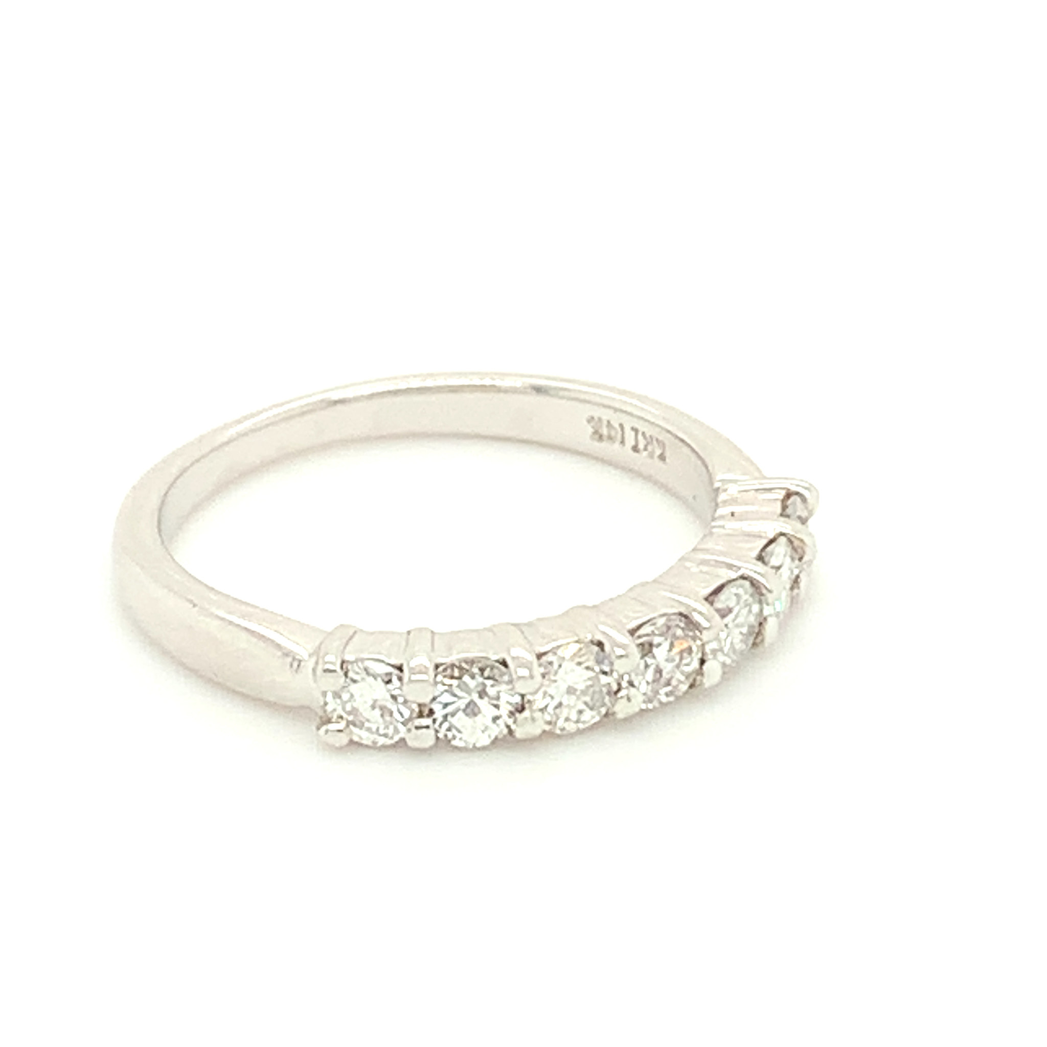 Freedman 14kt White Gold Shared Prong Diamond Band 0.64 carat total