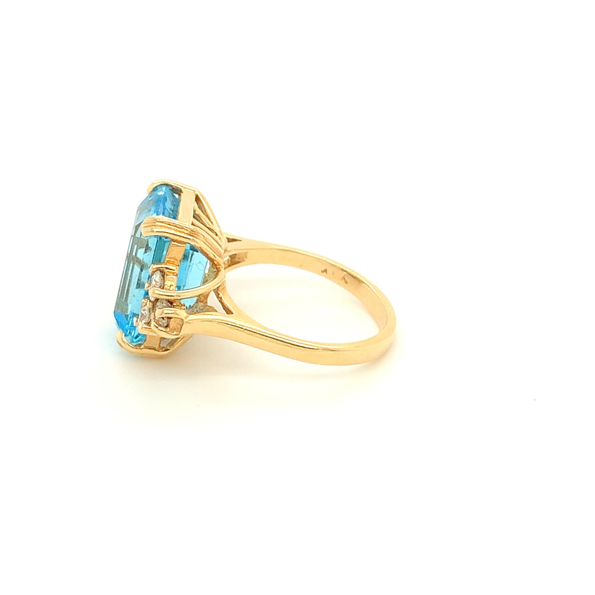 Freedman 9 Carat Blue Topaz & Diamond Ring