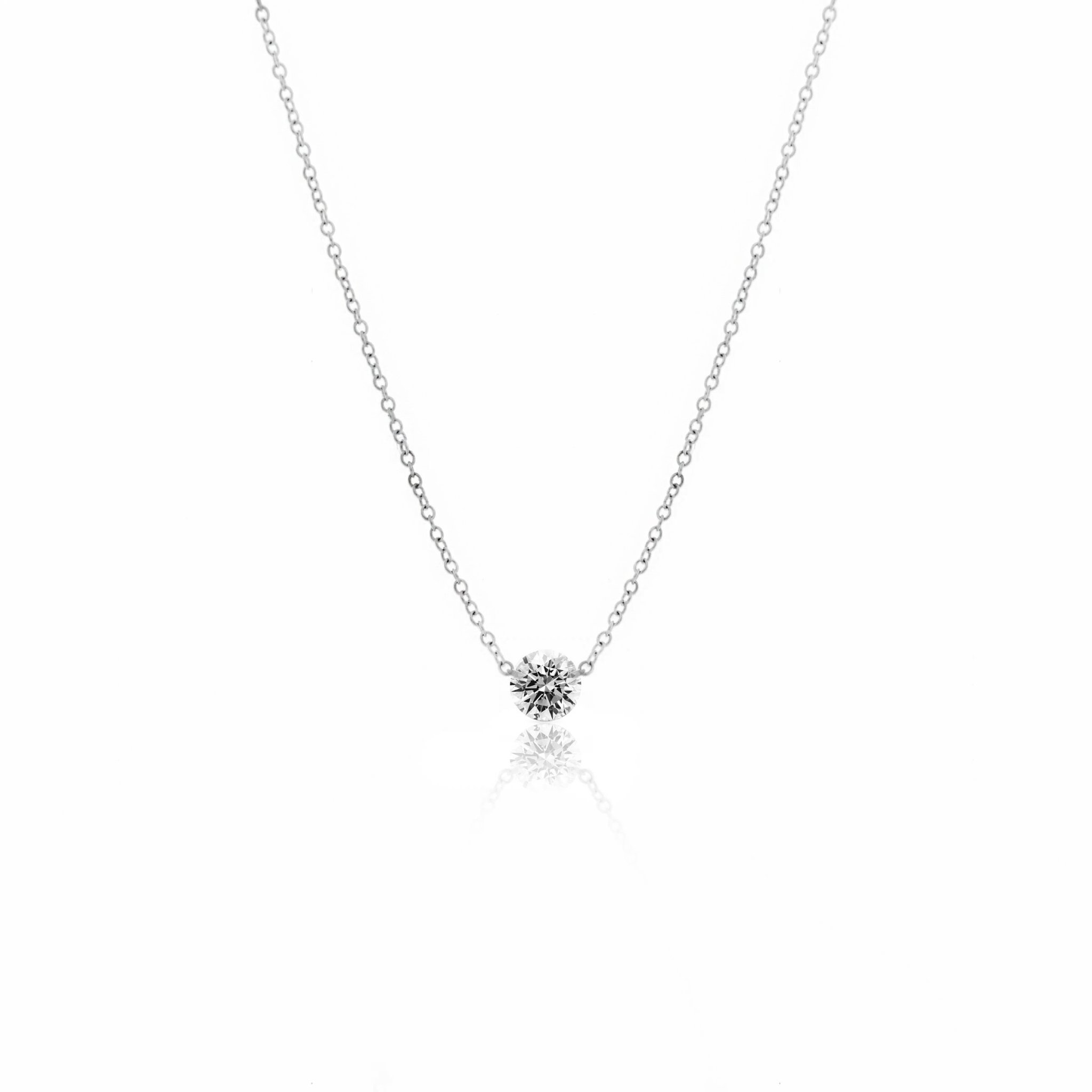 14kt Gold Drilled Diamond Necklace 0.30 carat