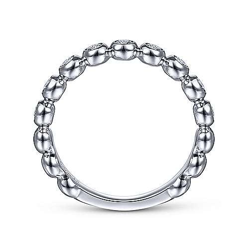 Gabriel & Co LR51902 Bezel Set Diamond Band 0.26 carat total
