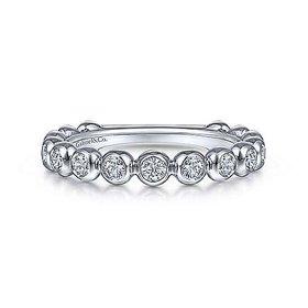 LR51902 Bezel Set Diamond Band 0.26 carat total