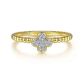 Diamond Cluster Clover Stackable Band