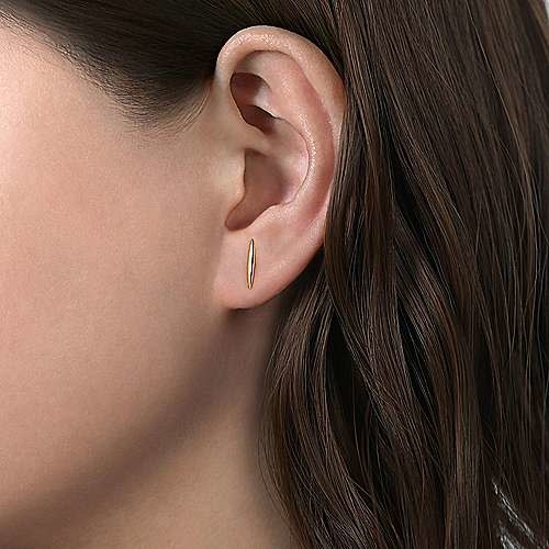 Gabriel & Co 14kt Yellow Gold Smooth Bar Earrings