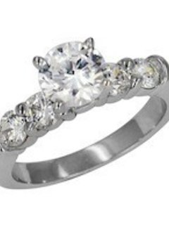 ED70775 diamond shared prong setting