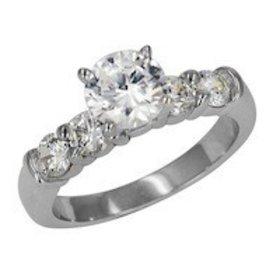 ED70775 diamond shared prong setting