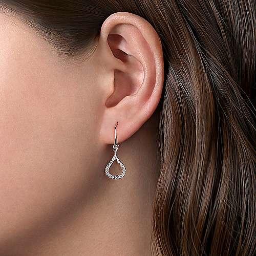 Gabriel & Co EG12201 14kt White Gold Diamond Drop Earrings