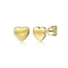 14kt Gold Heart Stud Earrings