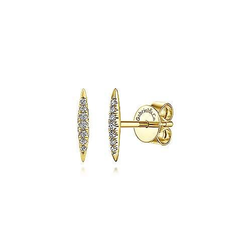 Gabriel & Co 14kt Diamond Bar Stud Earrings