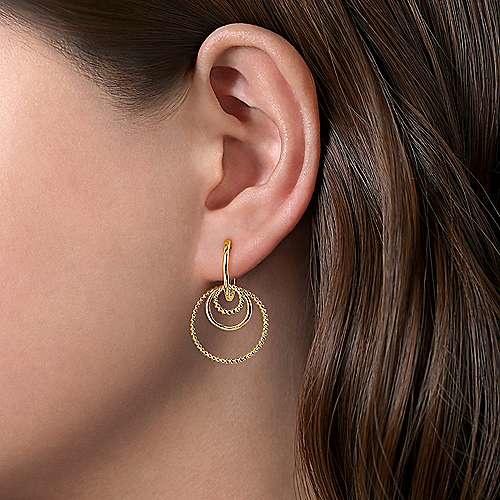 Gabriel & Co 14kt Yellow Gold Circles Hoop Earrings