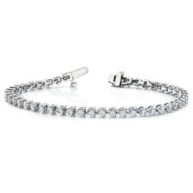 2.42 Carat Lab Grown Diamond Tennis Bracelet