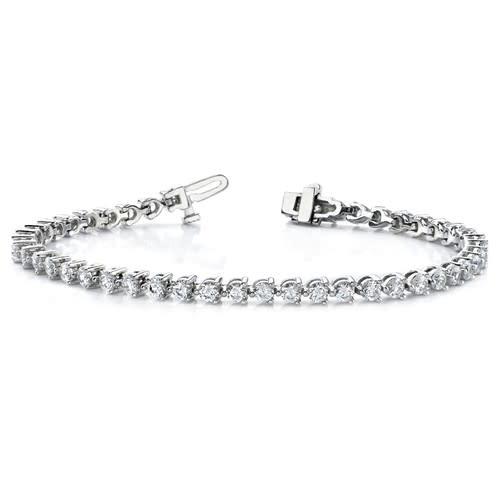 Q Gold 2.42 Carat Lab Grown Diamond Tennis Bracelet