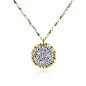 NK6365 Diamond Cluster Pendant Necklace 0.50 carat total