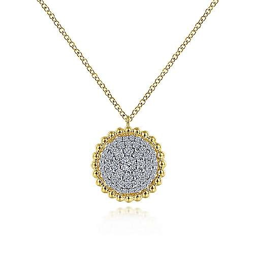 NK6365 Diamond Cluster Pendant Necklace 0.50 carat total