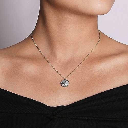 Gabriel & Co NK6365 Diamond Cluster Pendant Necklace 0.50 carat total