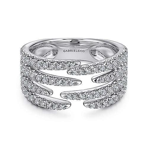 LR51301 Wide Diamond Pave Ring