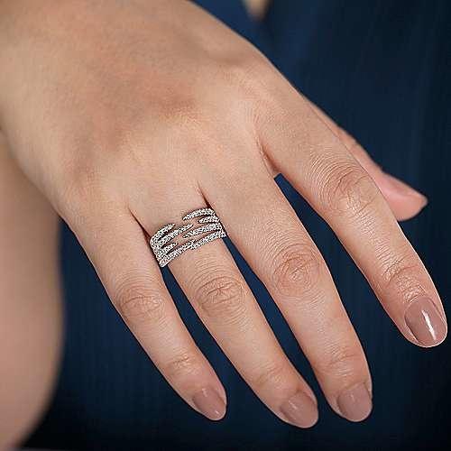 Gabriel & Co LR51301 Wide Diamond Pave Ring