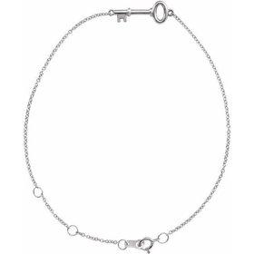 14kt Gold Petite Key Bracelet