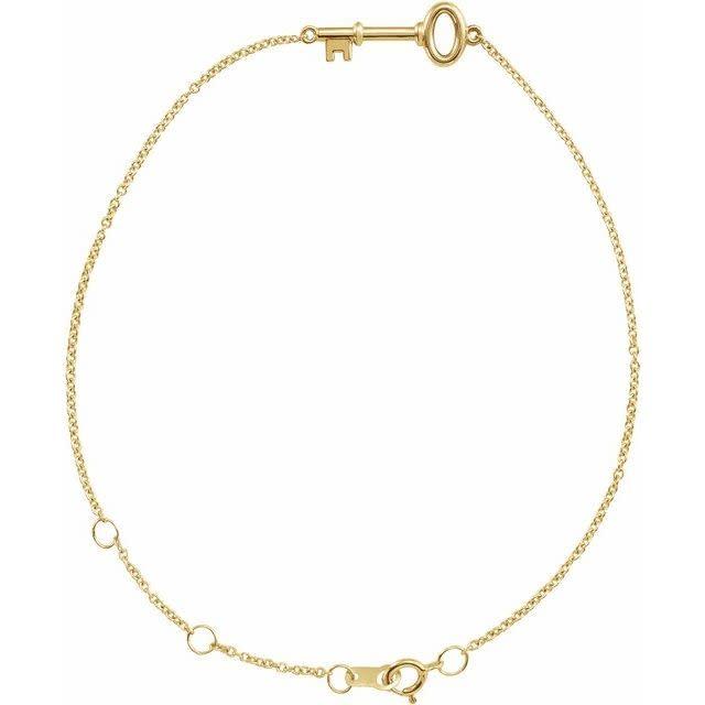 Stuller 14kt Gold Petite Key Bracelet