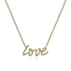 14kt Yellow Gold Love Necklace