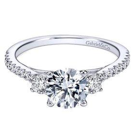 ER7296 modern 3 stone ring