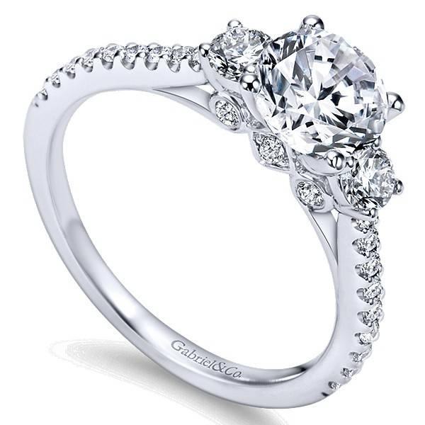 Gabriel & Co ER7296 modern 3 stone ring