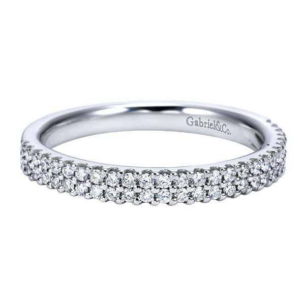Gabriel & Co AN7748  double row diamond band